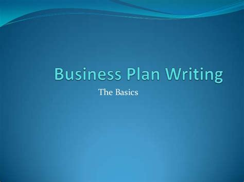 Business Plan For Mba Students Ppt business plan writing power point