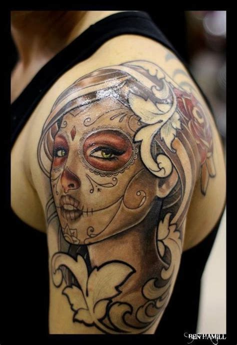 sugar skull tattoos for females mesmerizing mexican sugar skull collection