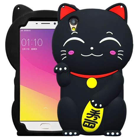 Back Iphone 6 Plus Lucky Cat new japan 3d lucky cat soft silicon for