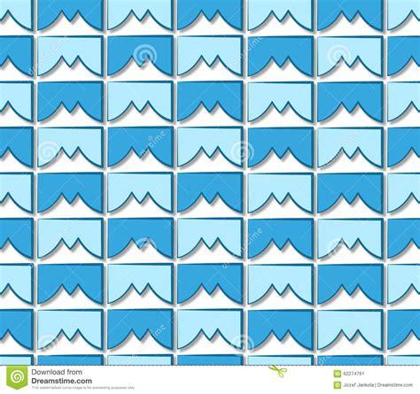 background pattern mountain blue tile pattern mountain peaks stock illustration