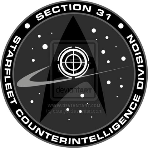 ds9 section 31 17 best images about star trek symbols badges on