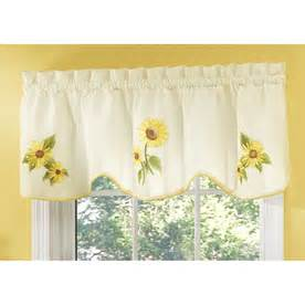 Lowes Kitchen Curtains Shop Style Selections Sunflower 16 In Yellow Polyester Rod Pocket Valance At Lowes