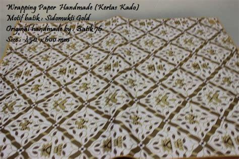 Kertas Kado Kertas Motif wrapping paper kertas kado istimewa motif batik sidomukti emas 1pack 20pcs kartu ucapan batik