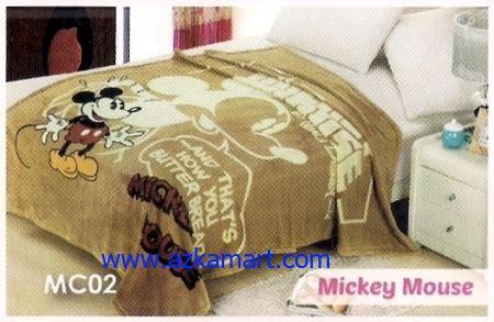 Selimut Bulu Bahan Flanel Karakter Lucu Mickey Mouse soft panel selimut blossom mc02 mickey mouse