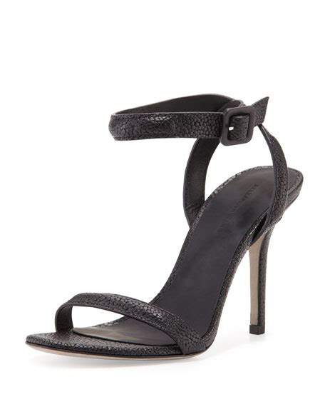 wang antonia sandal wang antonia stingray embossed sandal black