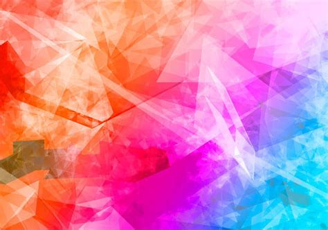colorful crystal wallpaper abstract colorful polygon crystal background vector
