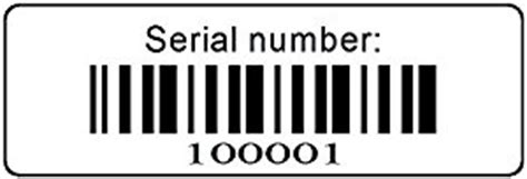 Amazon Gift Card Serial Number - amazon com 1000 serial number barcode labels 1 1 2 quot x 1 2 quot bar code stickers roll