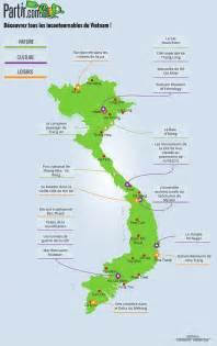 carte des regions viet nam voyage en  vietnam