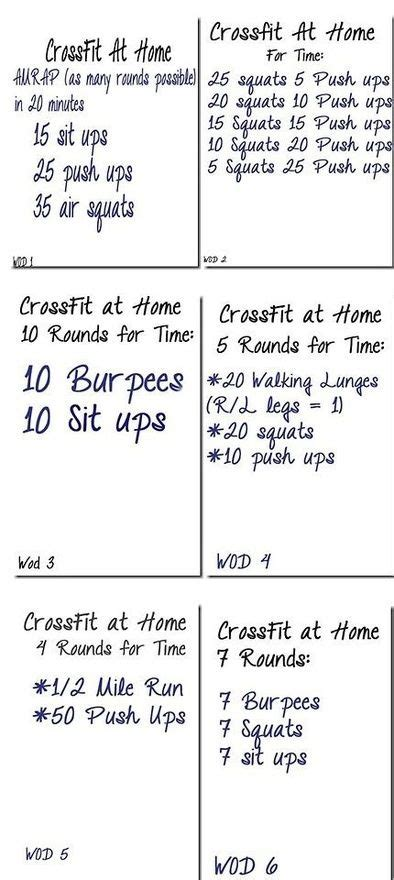 crossfit crossfit at home and workout on