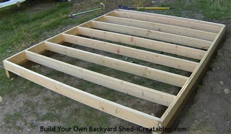 10 x 10 floor joist how to build a shed storage shed building