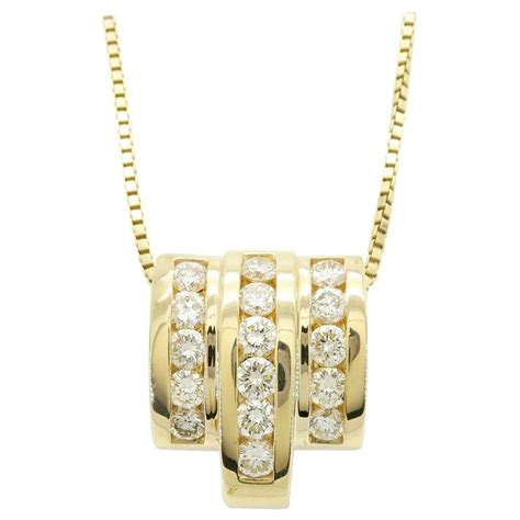 14 karat yellow gold 1 60 carat necklace at 1stdibs