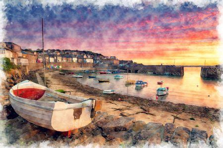 used boats cornwall mousehole boats jigsaw puzzle