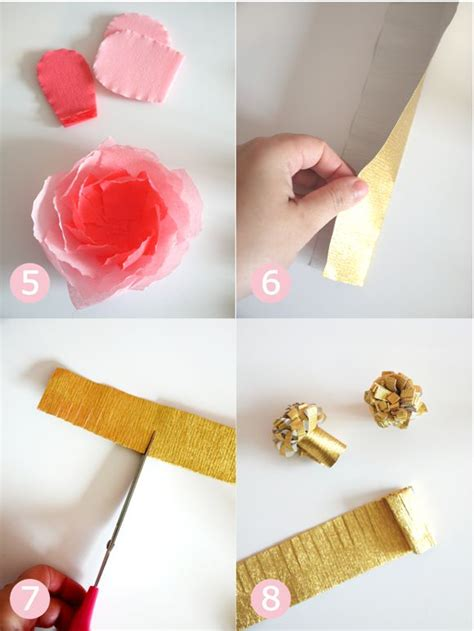 Crafts Using Crepe Paper - s day easy craft crepe paper flower bouquet
