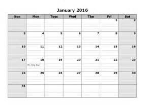 calendar 2016 printable monthly full page calendar