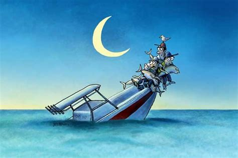 sinking boat cartoon revenge of the tuna boatus magazine