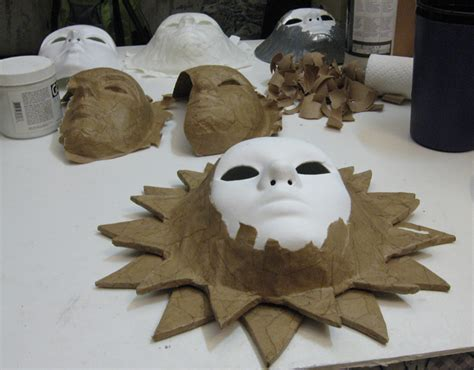How To Make A Paper Mache Sun - don s 187 actual masks