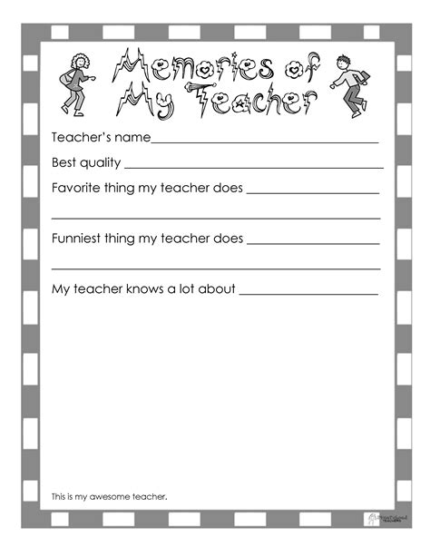 like template free end of the year book 10 page printable squarehead teachers
