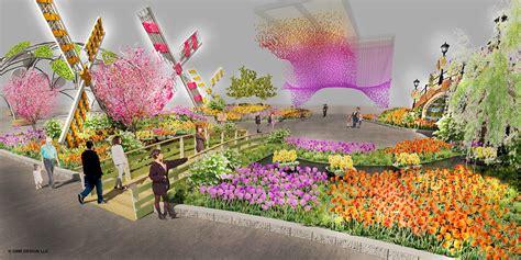 new year flower show renderings of the 2017 philadelphia flower show entrance