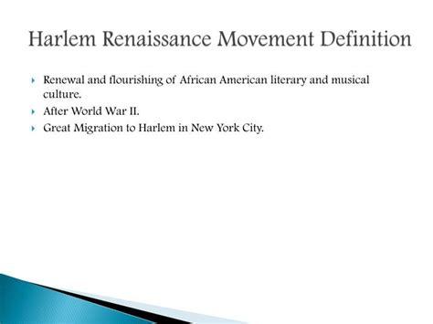 theme movement definition ppt harlem renaissance poetry powerpoint presentation