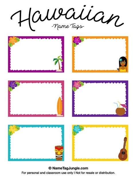 name the template free printable hawaiian name tags the template can also