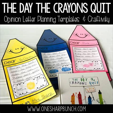 the day the crayons quit opinion writing crayon craft primeros grados libro album y escritura