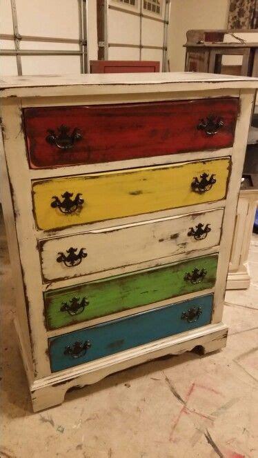 colored dressers multi colored distressed dresser ratique furniture