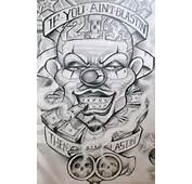 Smile Now Cry Later Gangster Tattoo Design