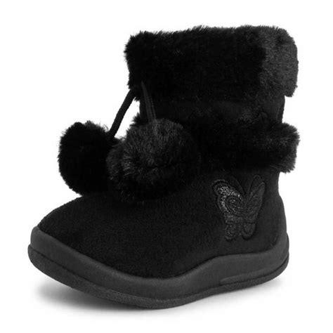 footwear girls zello butterfly glitter pom pom boots