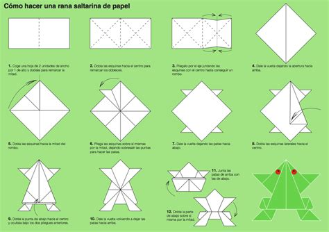 Frog Paper Folding - how to make a origami frog hairstyles