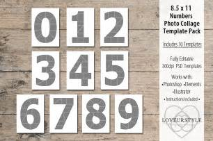 Photo Collage Number Templates by 8 5x11 Number Photo Template Pack Templates On Creative