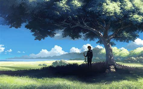 Landscape Character Definition 1280x800 动漫人物风景桌面背景图片 彼岸桌面