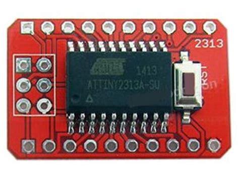 decoupling capacitor attiny attiny mini dev board ic 2313a acm attiny 2313a mini dev board communica