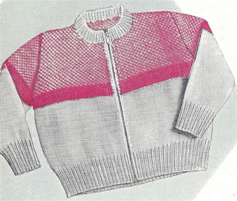 Knitting Pattern Zippered Cardigan | knitting pattern toddler cardigan sweater zipper front ebay