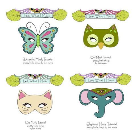 pattern for felt animal masks make your own masks pretty little things felt or paper