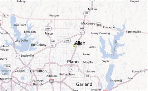 map of allen allen weather station record historical weather for