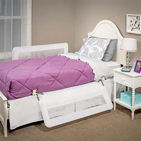 double sided bed rail amazon com regalo hide away double sided bed rail white
