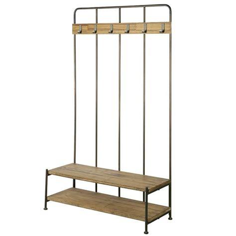 kapstok staand hout bepurehome kapstok staand giro bruin grijs hout metaal
