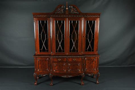 dining room china cabinet claw four door mahogany dining room china cabinet
