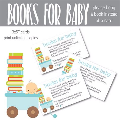 bring a book instead of a card baby shower templates printable blue baby quot bring a book instead of a card