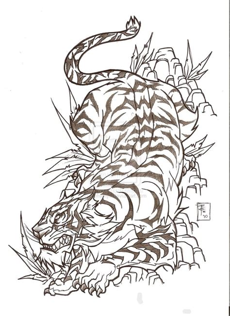 japanese style tiger tattoo designs tiger sketch beautiful japanese design