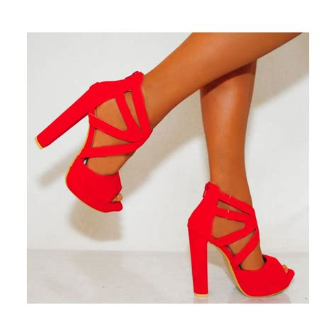 shoe high heels strappy high heels platforms shoes