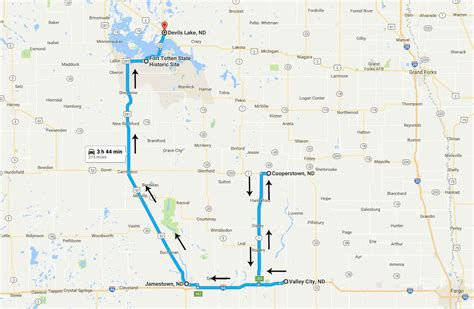 nd road map dakota road trip day 2 valley city to s lake midwest wanderer