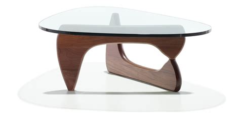 Noguchi Style Coffee Table 19mm Glass Top With Walnut Noguchi Coffee Table Walnut