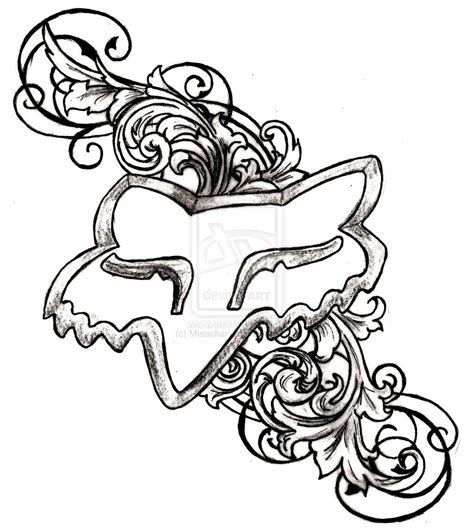 fox logo tattoo designs fox racing tattoos on