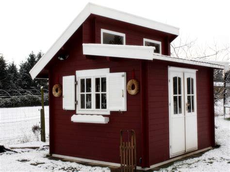 Gartenhaus Doppelpultdach