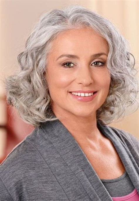medium haircuts gray hair 15 hairstyles for 50 with faces haircuts hairstyles 2018
