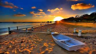 Sunset On The Beach Wallpaper   Wallpaper Studio 10   Tens