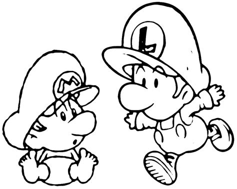 coloring page mario and luigi free coloring pages of 8 bit mario and luigi