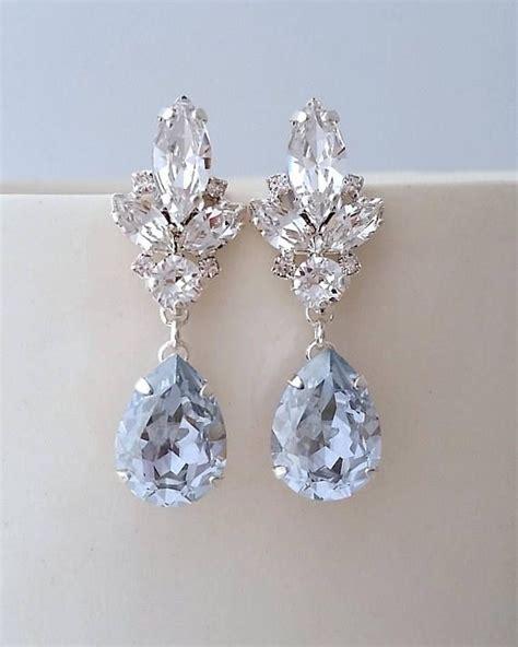 Blue Earring blue chandelier earrings dusty blue earrings bright blue