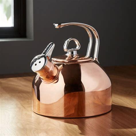 chantal classic copper tea kettle reviews crate  barrel